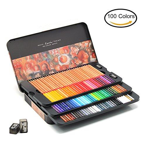 laconile Premium 100Farben Buntstifte Öl Buntstifte zum Zeichnen Skizzieren Künstler mit...