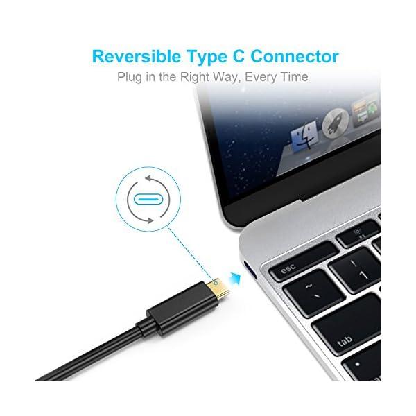 Cavo USB da C a HDMI, CHOETECH USB 3.1 Tipo C (Thunderbolt 3 compatibile) con cavo HDMI 4K per 2016 MacBook Pro, 2015 MacBook, ChromeBook Pixel, Samsung Galaxy S8 / S8 Plus