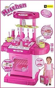 Zest 4 Toyz Kitchen Set Kids Luxury Battery Operated Kitchen Super Set Toy | Kitchen Set for Kids Girls - Pink