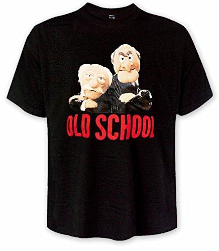 Muppets - Waldorf und Statler Old School T-Shirt, originelles Fan-Shirt - XXL (Old-school-xxl T-shirt)