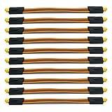 HD Fensterdurchführung Sat Kabel Flachkabel 10 x Ultra Slim vergoldet UHD Koaxialkabel extrem flach F Stecker Gummitülle Fenster Tür Wohnwagen Camping HDTV 3D 4K TV ARLI 10 Stück UltraSlim