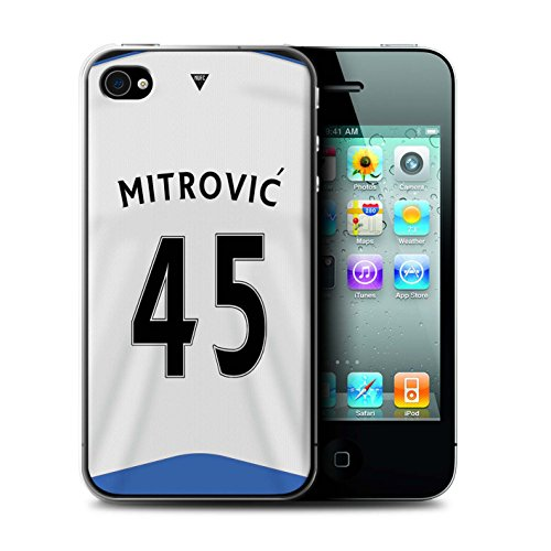 Offiziell Newcastle United FC Hülle / Case für Apple iPhone 4/4S / Pack 29pcs Muster / NUFC Trikot Home 15/16 Kollektion Mitrovic