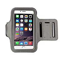 iphone 6s Armband (4.7Inch), Koly Running Sports Sweatproof Armband Gym Iphone 6/6s Arm Band Cover Case (Grey)