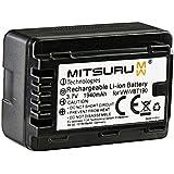 Mitsuru® batterie de remplacement pour Panasonic VW VBT190 compatible avec Panasonic HC T76 V10 V100 V110 V130 V160 V180 V210 V250 V270 V380 V500 V510 V520 V550 V550CT V707 V727 V757 V777
