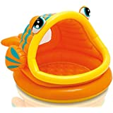 Intex Lazy Fish Shade Baby Pool, Multi Color - 57109