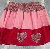 Jupe réveillon taille 5 ans organsa et liberty fait main, boutique de layette fait main petits prix, vêtements enfants création artisanale...