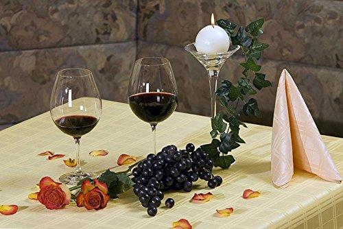 ACRYLBESCHICHTETE Gartentischdecke eckig mit Bleiband im Saum, acrylbeschichtet in Designs:Karrat, lachs Maß: 125x210 (210 Lachs)