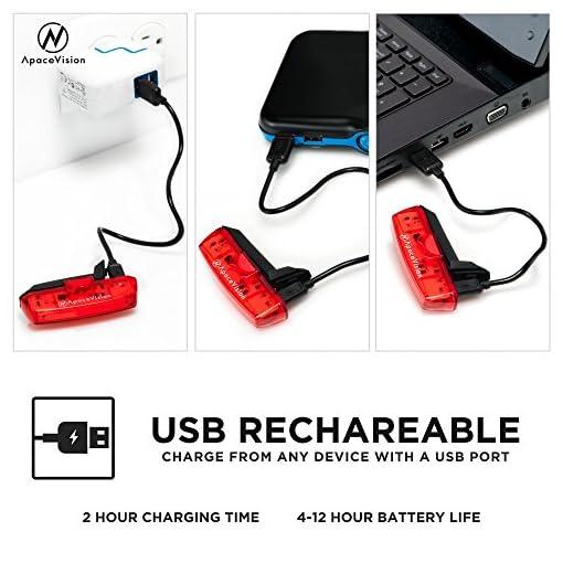 ApaceVIsion-GuardG3X Luce Posteriore USB Ricaricabile