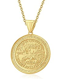 "Silvernshine Half Oz $25 ""American Gold Angle"" Pendant 18"" Chain In 14K Yellow Gold Over"