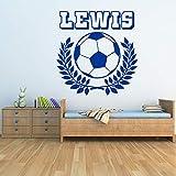 xinyouzhihi Personalisierte Name Mit Fußball Wandaufkleber Sport Kunst Decals Decor Kinder Jungen...