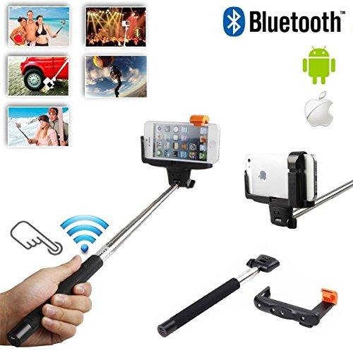 Bestdeal Erweiterbar Selfie-Stick mit integrierter Bluetooth Remote Knopf und Universal Phone Holder Geeignet für Huawei P9 Plus Smartphone