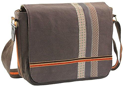 Wendekreis Berlin - Laptop-Schultertasche | Umhänge-Tasche | Laptop-Tasche| verschiedene Muster ca. 36x35cm, ca. 36x35cm., Braun