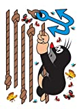 1art1 91462 Der Kleine Maulwurf - Butterflies Wand-Tattoo Aufkleber Poster-Sticker 85 x 65 cm