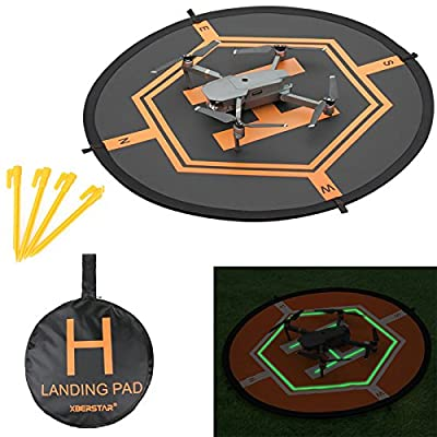 Double Side Day&Night Foldable Apron Landing Pad for DJI Mavic Pro Inspire 1 Phantom4 3 Quadcopter RC Drone Portable Fast-fold Launch Helipad