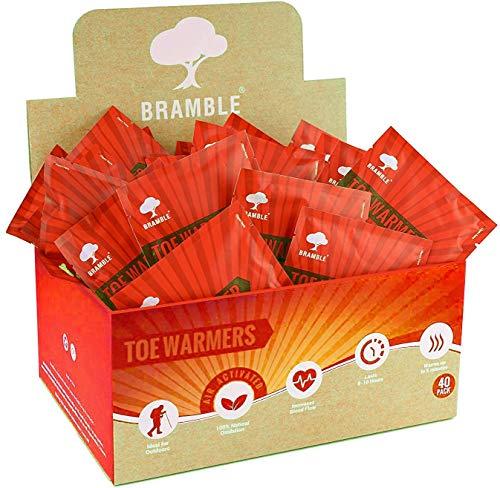 40 Paires Premium Chauffe-Pieds - Foot Warmers | 8-10 Heures de Chaleur Apaisante| Sans Danger pour L'Environnement, Inodore, Air-Activé - 100% d'Oxydation Naturelle