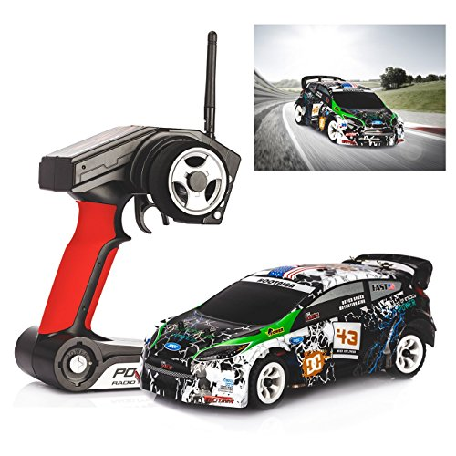 Tera® WLtoys 1:28 K989 2.4G 4CH RC Auto mit hoher Geschwindigkeit 30 km/h und Fernbedienung