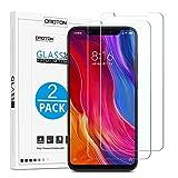 OMOTON [2 Pezzi] Compatibile con Xiaomi Mi 8/Xiaomi Mi 8 PRO Pellicola Protettiva in Vetro Temperato - Durezza 9H - Anti-Graffi - 99% di...