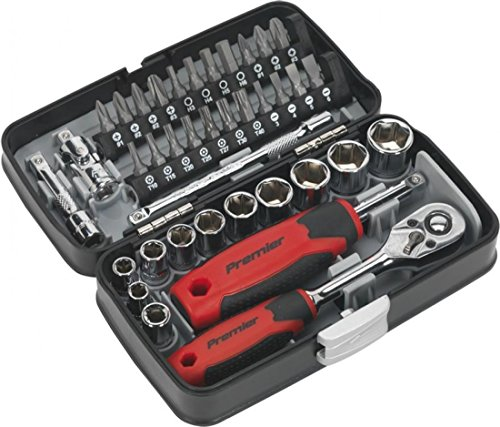 'SEALEY Hex Socket Bit Set & Ratchet 6110 30 Piece | 1/2sq Drive