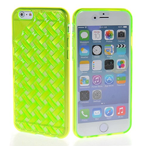 MOONCASE TPU Silicone Housse Coque Etui Gel Case Cover Pour Apple iPhone 6 ( 4.7 inch ) Rouge Vert