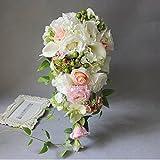 BKPH Natürliche Windhochzeitsphotographie stützt die Blumen, die Braut Wedding sind, die Blumen Tropfen-förmigen Wasserfall Wald halten, 001