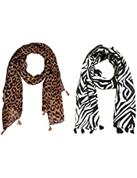 67b570d7764 Amazon.in  Whites - Scarves   Stoles   Accessories  Clothing ...