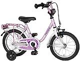 Bachtenkirch Kinder Fahrrad DOLFY, weiß/altrosa-met, 14 Zoll, 1300411-DF-89