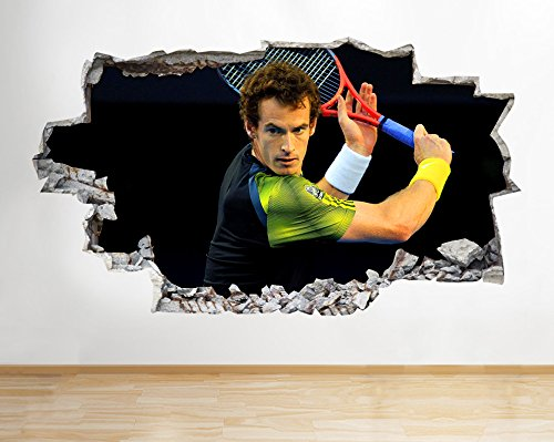 h191-andy-murray-tennis-smashed-wall-decal-poster-3d-art-stickers-vinyl-roomlarge-90x52cm