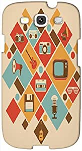 Timpax protective Armor Hard Bumper Back Case Cover. Multicolor printed on 3 Dimensional case with latest & finest graphic design art. Compatible with Samsung S3 - I9300 Galaxy S III Design No : TDZ-21787