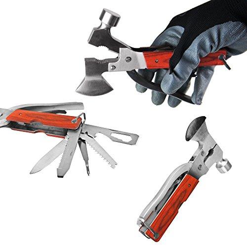 Preisvergleich Produktbild BAYLI 1 in 1 Camping Multitool Hammer Zange Beil Säge Campingwerkzeug Kombi-Werkzeug