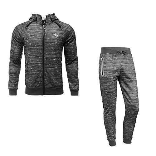 Airavata Herren Trainingsanzug Sweatjacke Hose Sportbekleidung Fitness Jogginganzug