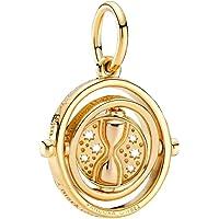 Pandora Harry Potter - Ciondolo girevole a forma di turno in lega di metallo placcato oro 18 carati, 3,8 x 16,8 x 19,1…