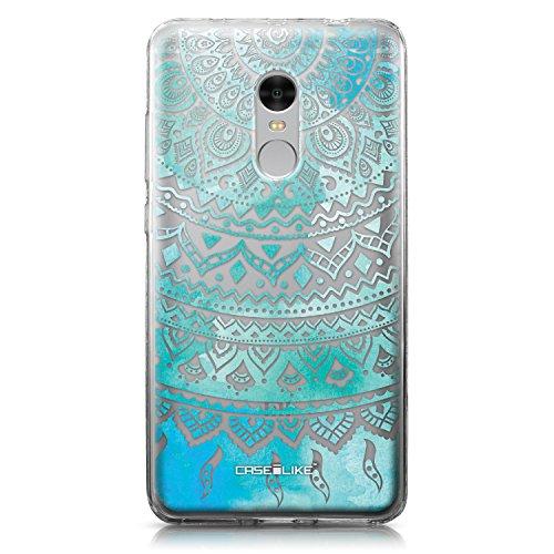 CASEiLIKE Funda Redmi Note 4, Carcasa Xiaomi Redmi Note 4, Arte Indio de la línea 2066, TPU Gel Silicone Protectora Cover