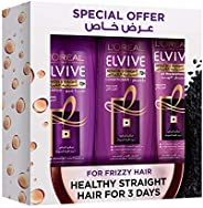 L'Oreal Paris Elvive Goodbye Set of 3 Pieces Shampoo For Frizzy Hair, 400 ml with Conditioner, 400 ml and