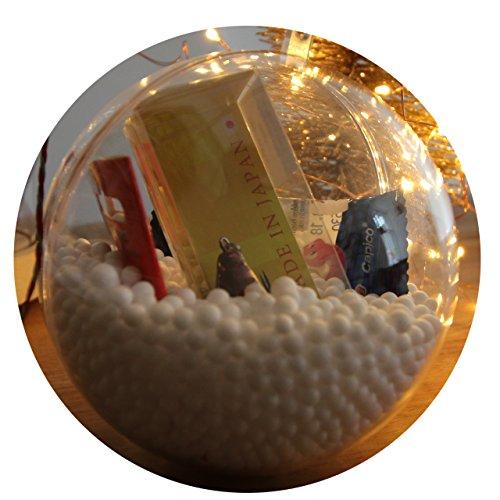 #MFB // Weihnachtskugel mit KUNSTKÖDERN, perfekt als Geschenk für Angler. 10cm Durchmesser inkl. zwei Köder und Süßigkeiten.
