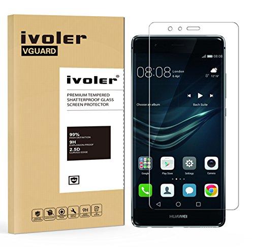 ivoler Pellicola Vetro Temperato per Huawei P9 [Garanzia a Vita], Pellicola Protettiva, Protezione per Schermo