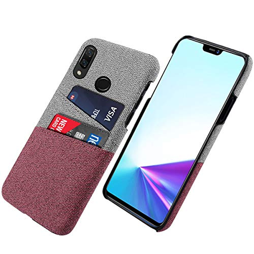 Classic Armor Case (Obamono Phone Case Compatible with Vivo Z3x, Ultra-Thin TPU Slim Back Shell Pouches Phone Cover Case Shockproof Armor Protector Back Shell Full Protective for Vivo Z3x, Red)