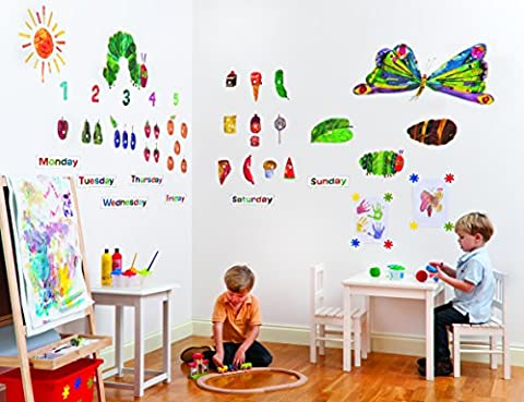 Fun To See Very Hungry Caterpillar Nursery and Playroom Wall Sticker Decor Kit