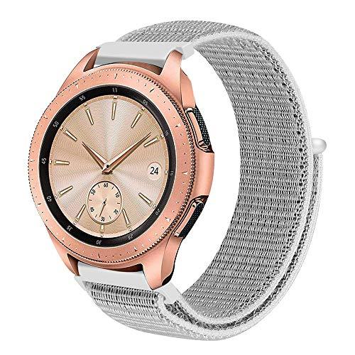 SYY ❤️ Samsung Galaxy Watch ❤️ Nylon Armband,Kratzfest Wasserdicht Herren Damen Universal Armbänder Strap Band für Samsung Gear Fit2 Pro (Weiß)