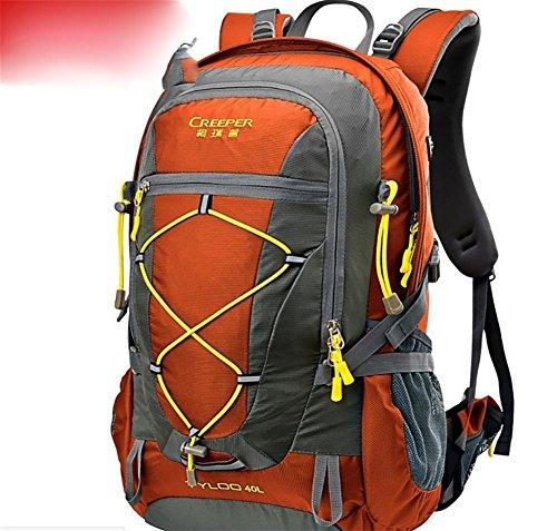 Wandern Outdoor Rucksack ultra leichten 40L Reiten tragen Schulter-Travel Tour Tasche Regenhülle orange 40 liters
