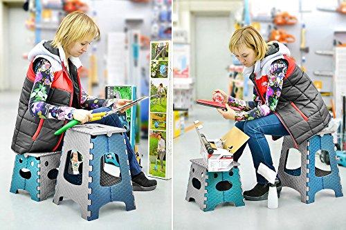 Stark sgabello pieghevole con maniglia per bambini e adulti