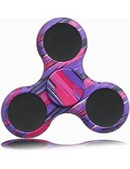 KAIHONG Fidget Hand Finger Toy Spinner Jouet Ultra Durable Roulement Haute Vitesse 3-5 Mins Spinners pour Adultes, le TDAH, l'anxiété et les Enfants Adultes Autistes (violet)