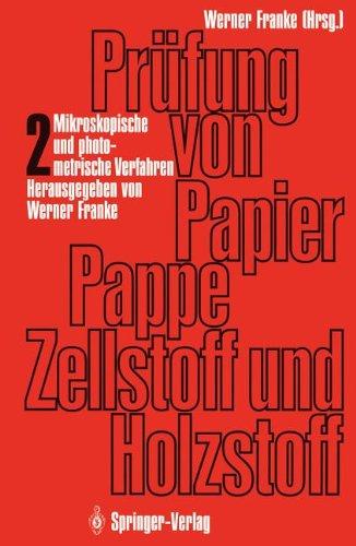 Prüfung von Papier, Pappe, Zellstoff und Holzstoff
