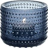Iittala - Teelichthalter - Windlicht - Kastehelmi - Regenblau - Höhe 6,4 cm
