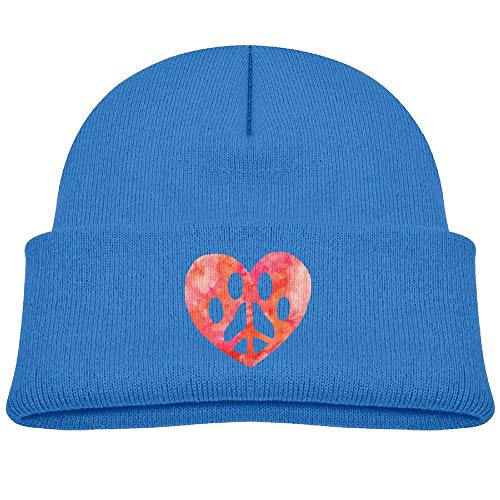 Nifdhkw Peace Love Dog Paw Unisex Kinder Beanie Caps Schwarz Multicolor48