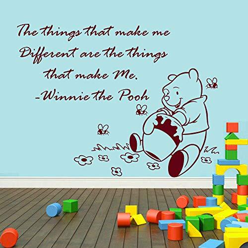 Wandtattoo Wohnzimmer Winnie The Pooh Wandtattoo Aufkleber Wandtattoo Zitat Bär Honig Abziehbilder Kinderzimmer Dekor Aufkleber Baby Kinderzimmer Wand (Pooh-der-bär-wand-dekor)