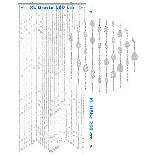 HAB & GUT -DV02732- Tenda per Porte Gocce, Trasparente XL, 100 x 250 cm