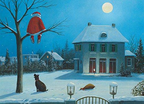 Klappkarte mit Umschlag C6- (11,5 x 17 cm) • 26006-5 ''Stille Nacht'' von Inkognito • Künstler: INKOGNITO © Gerhard Glück • Weihnachten -