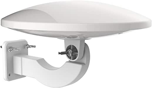 1Byone Antenna Amplificata Omni-Direzionale 360°, Antenna HDTV da Esterno per Digitale DVB-T e Analogico, 32dB, Filtro 4G LTE e Alimentatore, Protezione Anti-UV, Impermeabile e Compatta