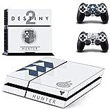 Playstation 4 + 2 Controller Aufkleber Schutzfolie Set - Destiny 2 Jäger /PS4