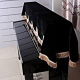 Anself 88-key Electronic Piano Keyboard Cover Pleuche Fastener Tape Decorated with F...